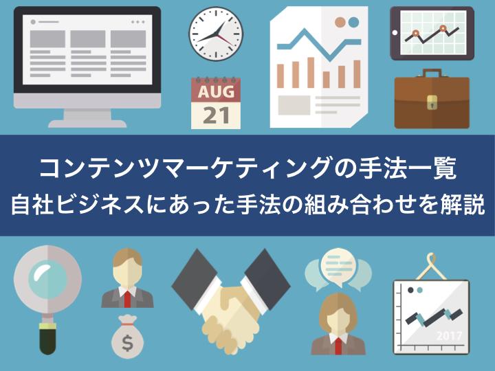 コンテンツマーケティングの手法一覧 自社ビジネスにあった手法の組み合わせを解説