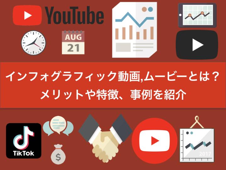 インフォグラフィック動画,ムービーとは?メリットや特徴、事例を紹介